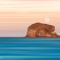 Pastel Mooning The Bass Rock